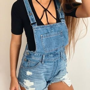 Denim High Rise Overall